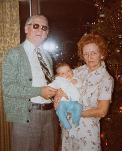 Christopher, Grandma Ruth, Grandpa Jack 1977