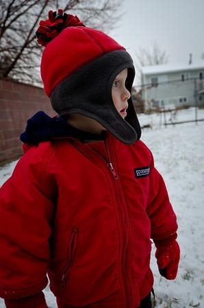Jill's First Snowman - December 2010
