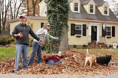 Check off the pile of leaves
