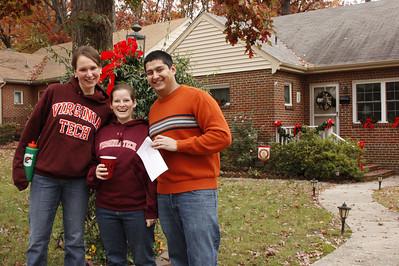 Jamie, Marisa &  John found the early Christmas decorations
