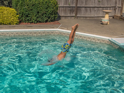 Swimming at Grandma & Grandpa's house