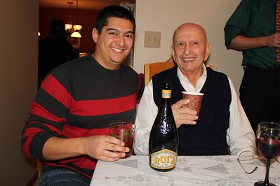John and Grandpa Ben tasting some Italian beer