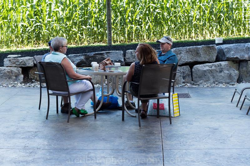 Cathy, David,Rachel ,Matthew on the pool patio .