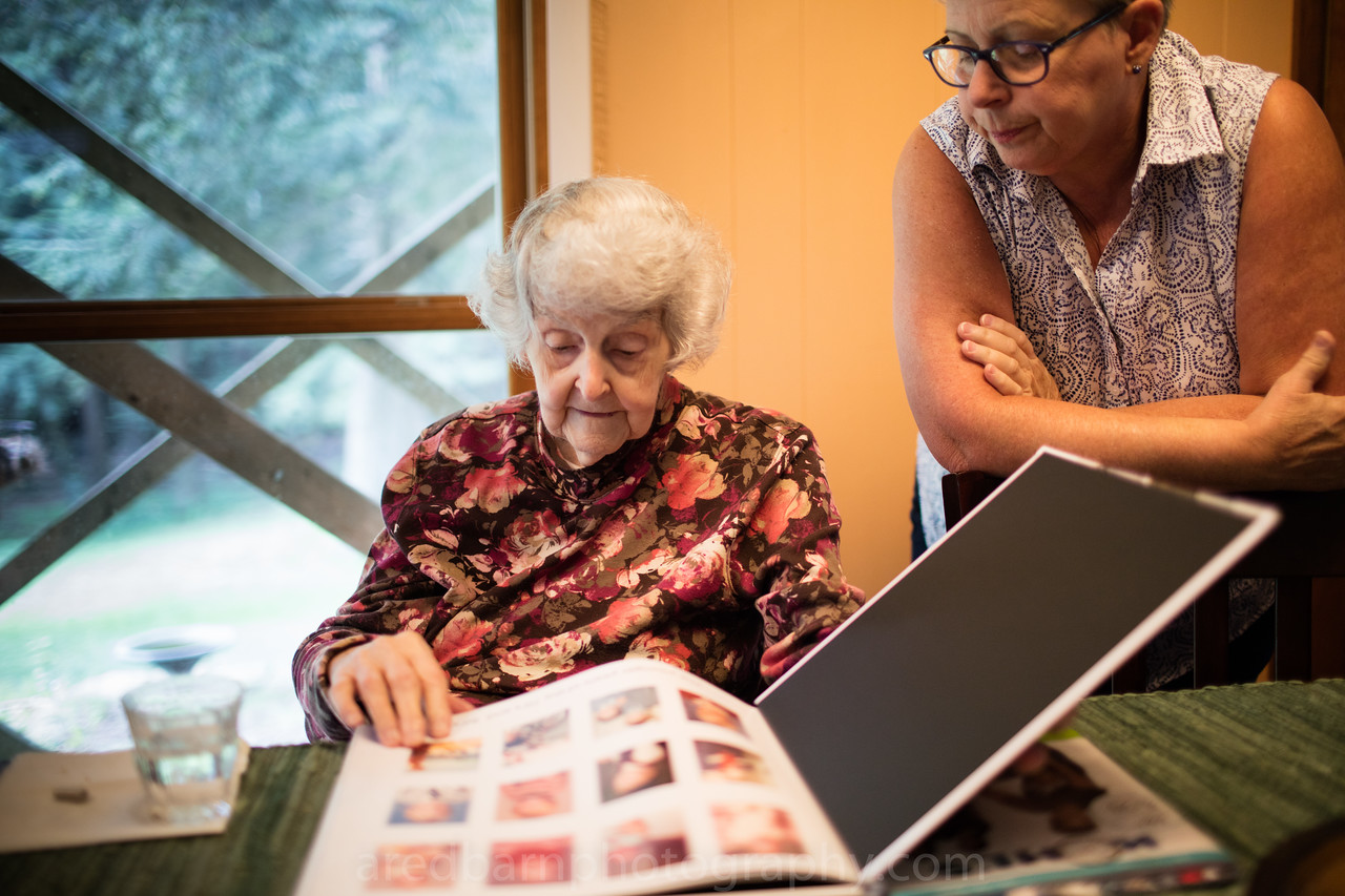 Grandma Brumgard, with Cathy S Brumgard.