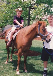 Birthday Party Horse Rid