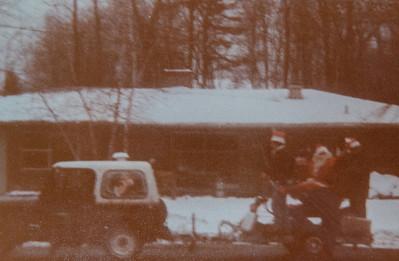 Santa's visit to Birch Ave 1981