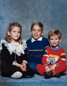 Marisa, Christopher & Michael 1987