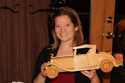 Marisa & 1931 Cadillac that Grandpa Ben made for her