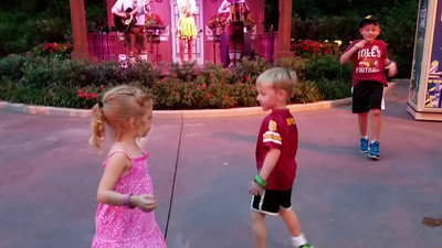 Mila dancing in EPCOT