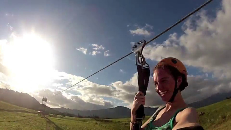 Ziplining in Kauai  - 2011