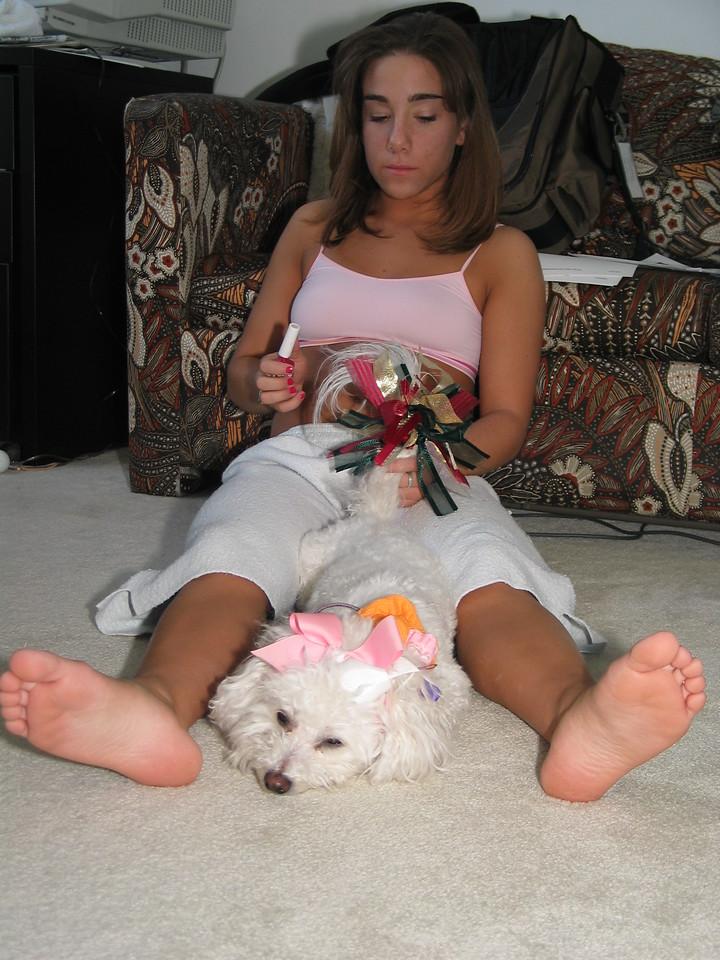 Jen and Micki, 2003, Poor Micki