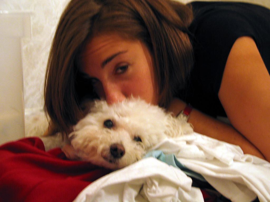 Poor Micki, Jen is going to Israel, 5/05