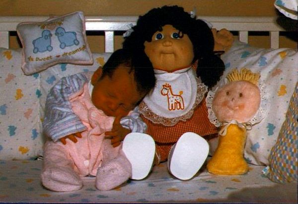 Jen and her Cabbage Patch doll