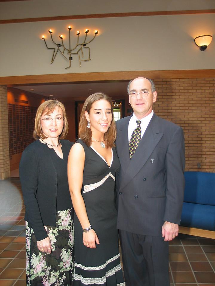 Rose, Harvey and Jen at Michael Bar Mitzvah, 2003