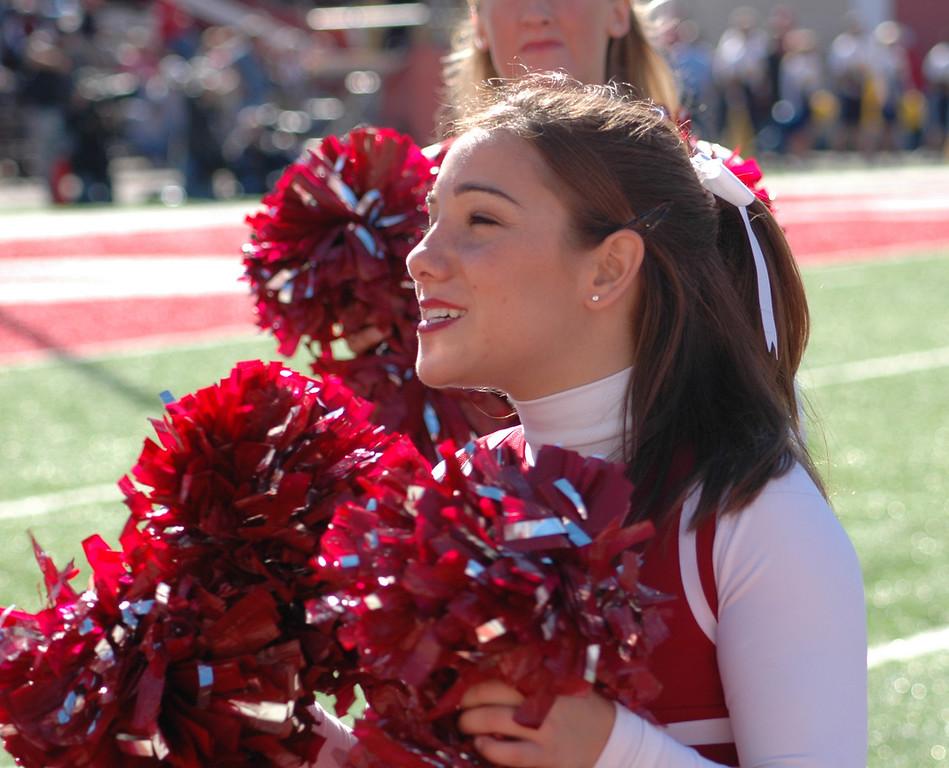 Jen Sideline Cheer, Indiana University, October 2004