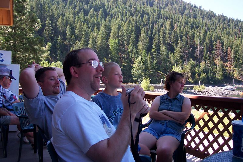 This is some family members at Wallowa Lake, OR, in August of 2003. My step-dad, Gary, took this picture, I believe.