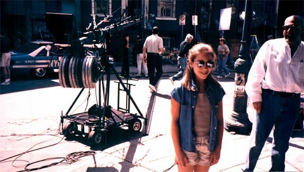 Jen at Fox NYPD set, years before