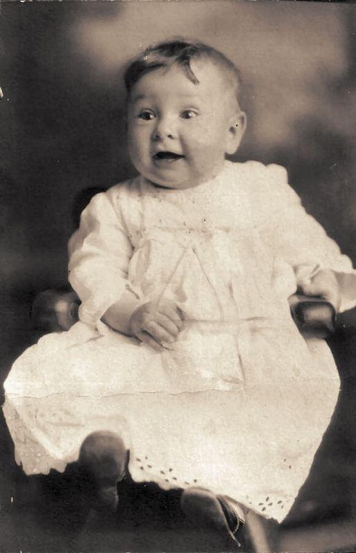 My Grandma Esther's baby picture, circa 1917!
