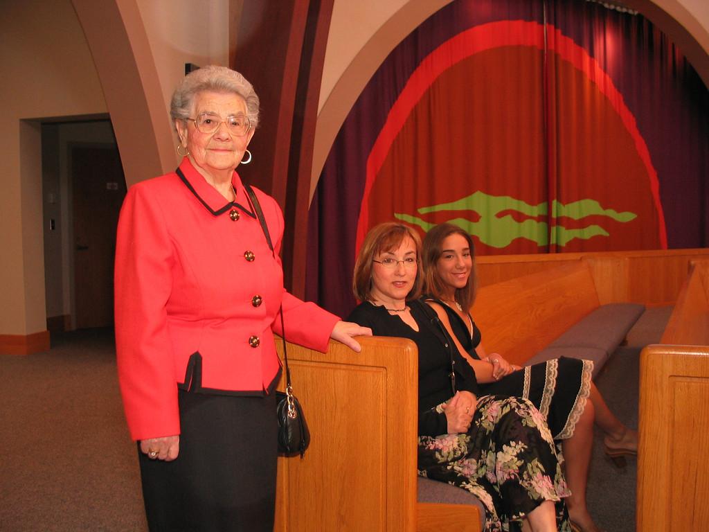 Rose, Mania and Jen at Michael Bar Mitzvah, 2003