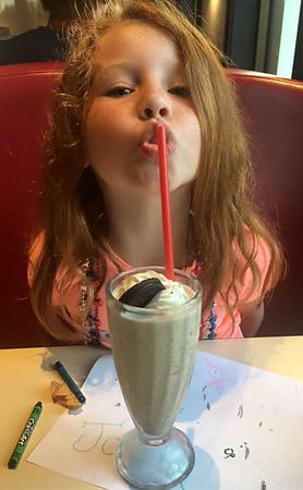 Josie with Milkshake