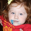 Josie's been eating cake at Kasey's Welcome Home Party in Jacksonville. (Photo by Sandy Pomeroy)