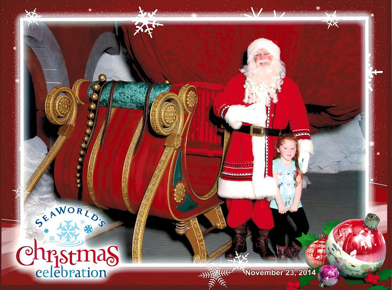 Josie and Santa Christmas 2014