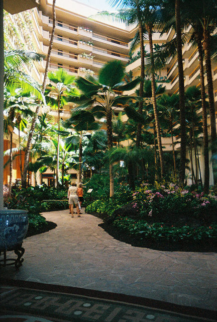 The lobby of our hotel.  This picture makes it look small!