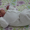 my first sleep at home in my crib !
