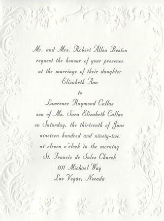 Misc. Wedding