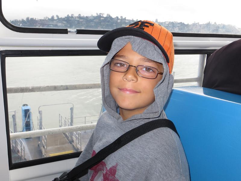 Austin on ferry to SF