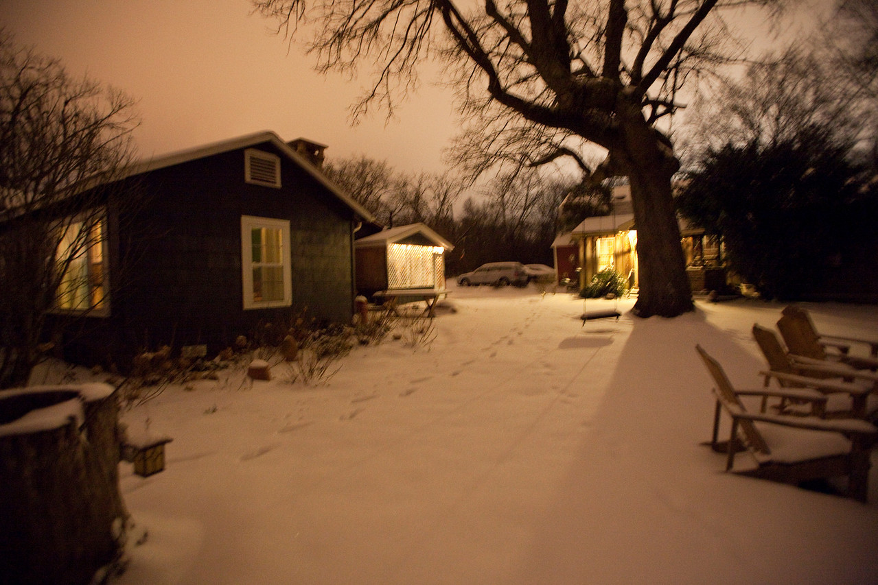 """We had our 3rd snow this winter, 4"""" and the city when crazy.The south and snow don't mix well.Jan 29 2010 9PM"""