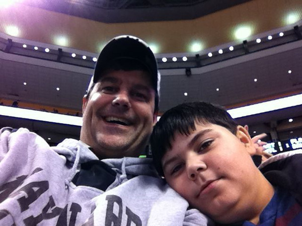 RJ and Dad at the Bs