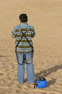 Hashim on the dunes.