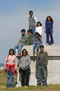 On top of the memorial.