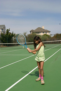 Alizay showing us her tennis form.