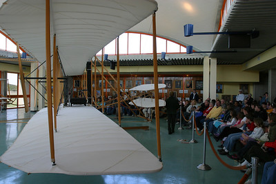 The Kitty Hawk museum had a really nice talk given by one of the Park Rangers.