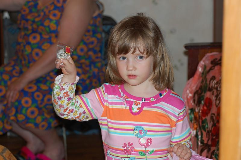 DSC_9479 - Olya shows Antonina Petrovna's medal.