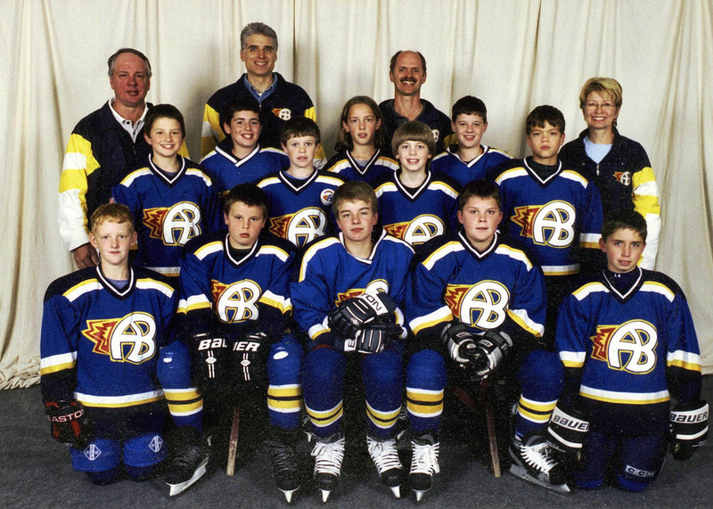 One of the many hockey teams that Lisa and I coached together.