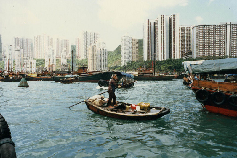 Hong Kong harbour<br /> 1987