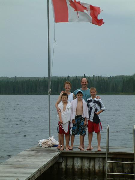 Paavola Camp<br /> Timmins Lake<br /> North of Thunder Bay, Ontario<br /> July 2003