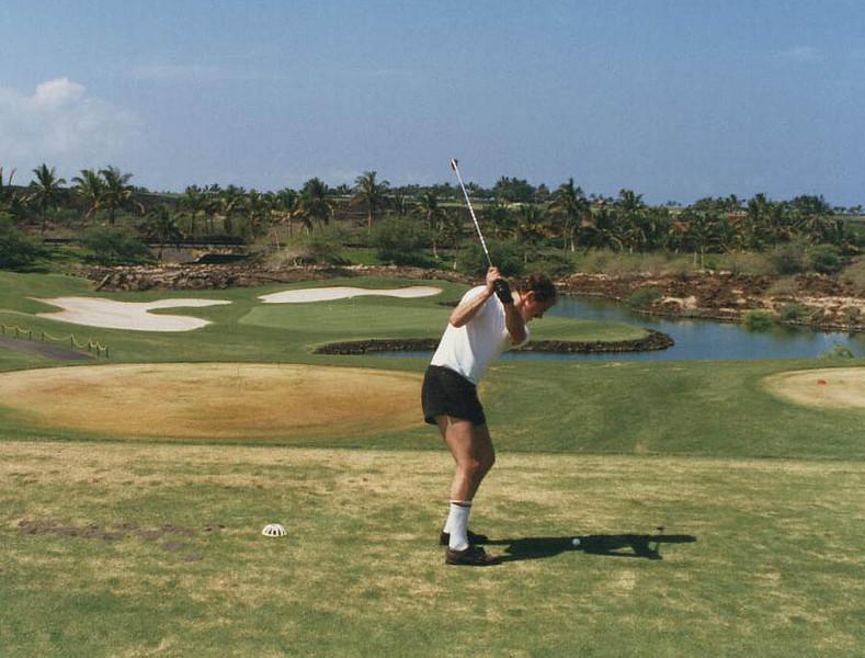 Golf in Hawaii. <br /> Nice shorts!