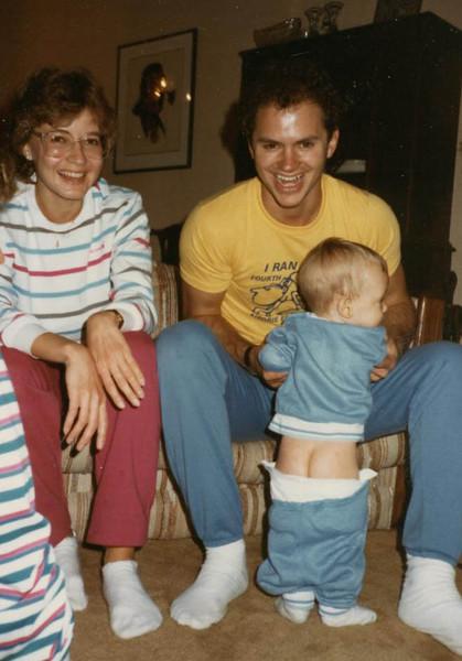 Lisa, Tim and a nephews behind.