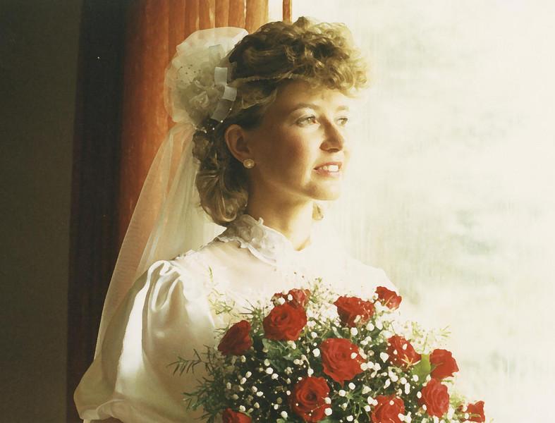 Prior to the wedding.