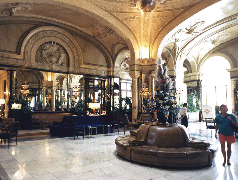 Lobby of the Hotel Du Paris<br /> 1989