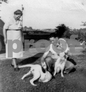 Eugene & Hazel in yard
