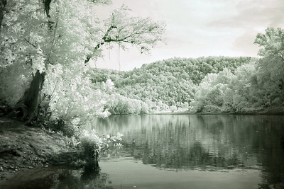 Infrared shot of Rush Landing, where we would start the canoe trip.