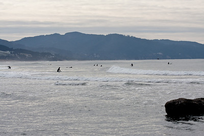 Surfers... in 30 degree weather.