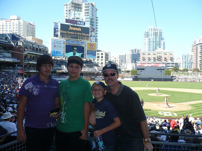 2010 Sept Padres Game Travis, Evan, Conner