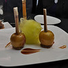 Chef Chile thought enough of us to let us try his latest creation.  Candied apples with Dr. Pepper glaze and sugar cane as the stem.  In between the apples is flavored Cotton Candy.  A wonderful treat.  Thank you, Chef Chile - so creative, so delicious.