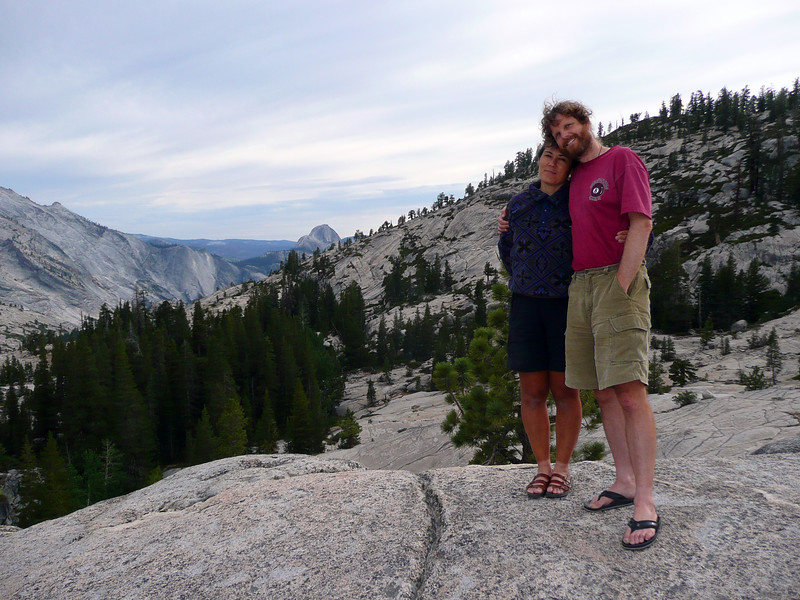 At Olmstead Point on the drive through Yosemite